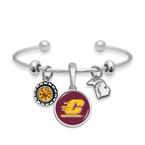 Central Michigan Chippewas Home Sweet School Bracelet