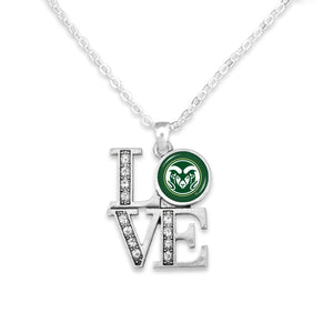 Colorado State Rams LOVE Necklace