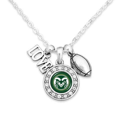 Colorado State Rams Football, Love and Logo Necklace