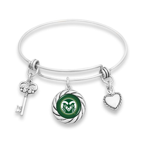 Colorado State Rams Twisted Rope Bracelet