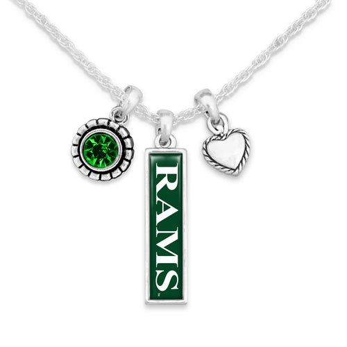 Colorado State Rams Triple Charm Necklace