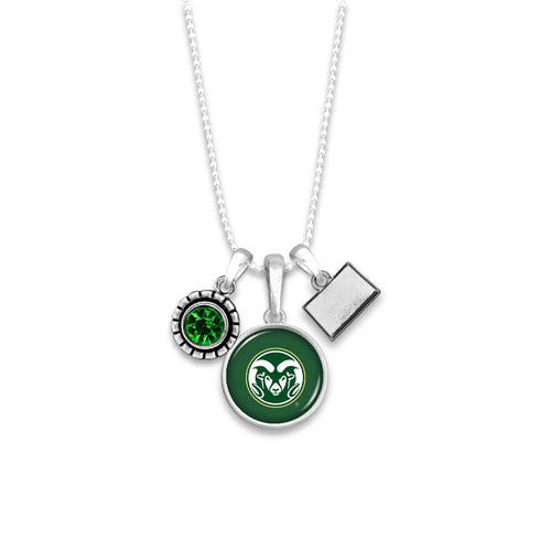 Colorado State Rams Home Sweet School Necklace