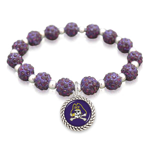 East Carolina Pirates Team Color Sparkle Stretchy Bracelet