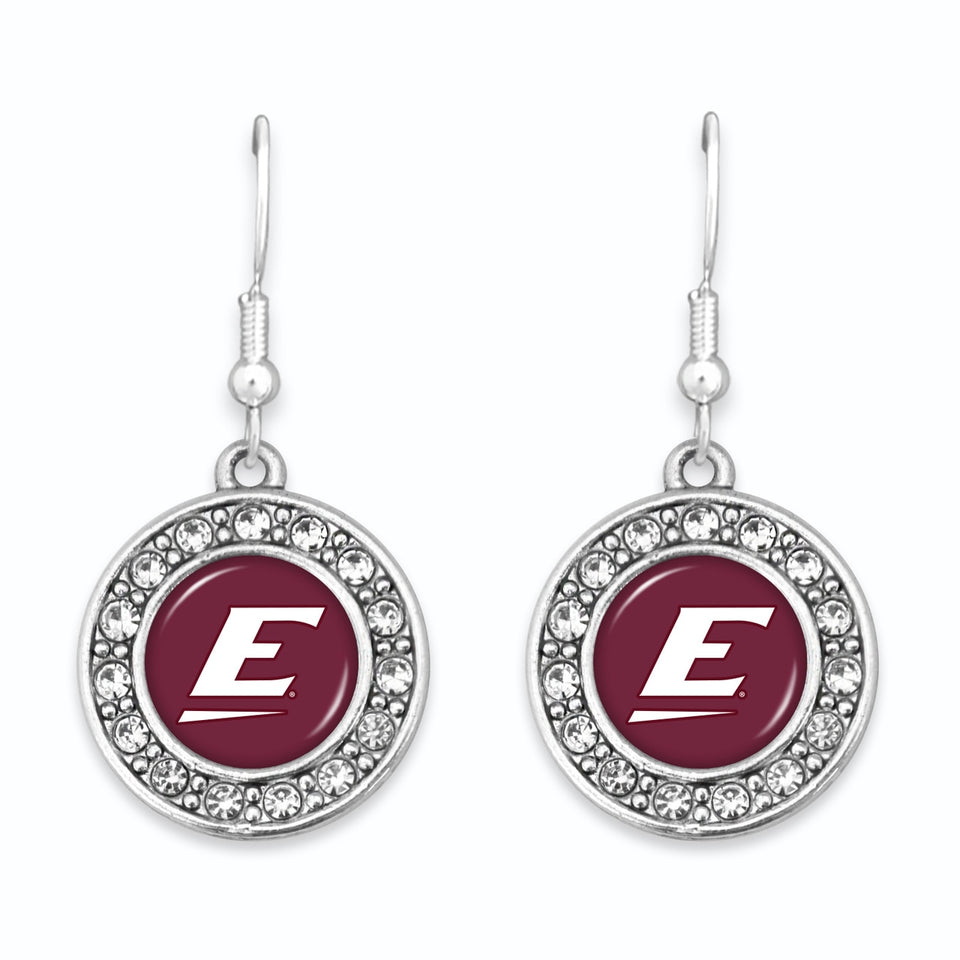 Eastern Kentucky Colonels Abby Girl Round Crystal Earrings