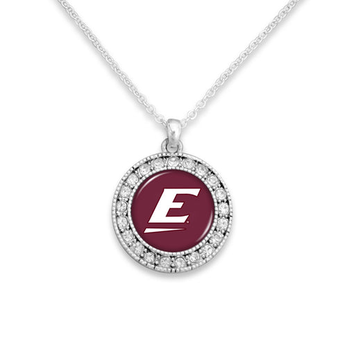 Eastern Kentucky Colonels Kenzie Round Crystal Charm Necklace