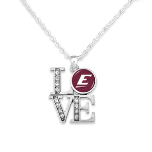 Eastern Kentucky Colonels LOVE Necklace