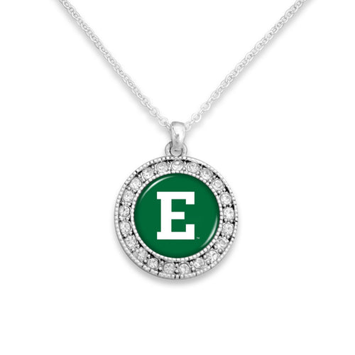 Eastern Michigan Eagles Kenzie Round Crystal Charm Necklace