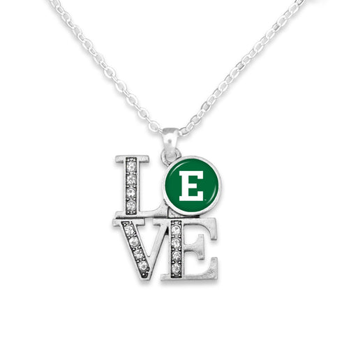 Eastern Michigan Eagles LOVE Necklace