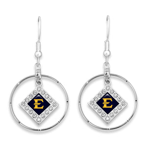 East Tennessee State Buccaneers Silver Hoop Earrings
