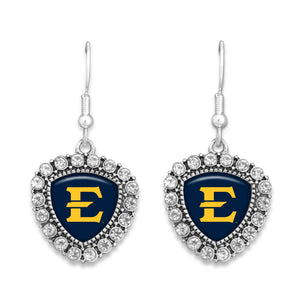 East Tennessee State Buccaneers Brooke Crystal Earrings