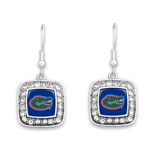 Florida Gators Square Crystal Charm Kassi Earrings