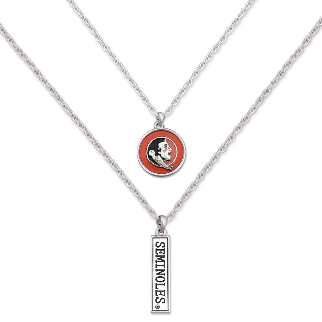 Florida State Seminoles Double Down Necklace