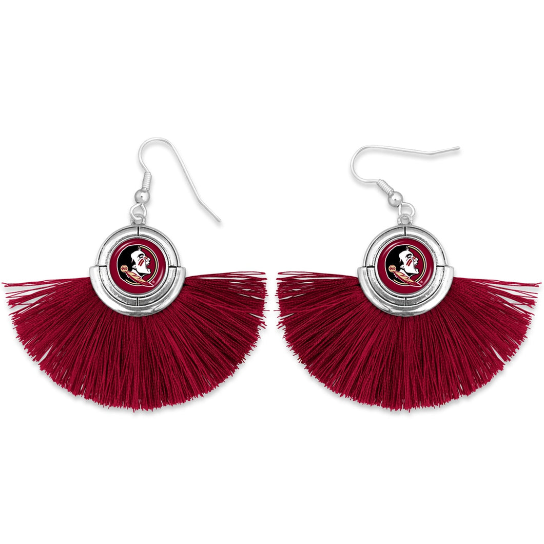 Florida State Seminoles Tassel Earrings