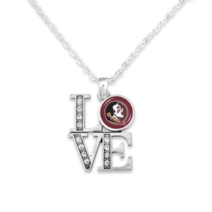 Florida State Seminoles LOVE Necklace