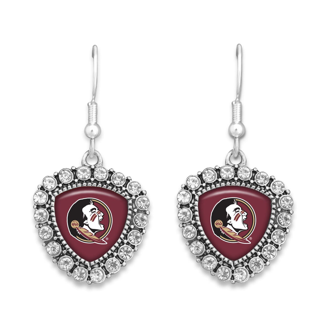 Florida State Seminoles Brooke Crystal Earrings