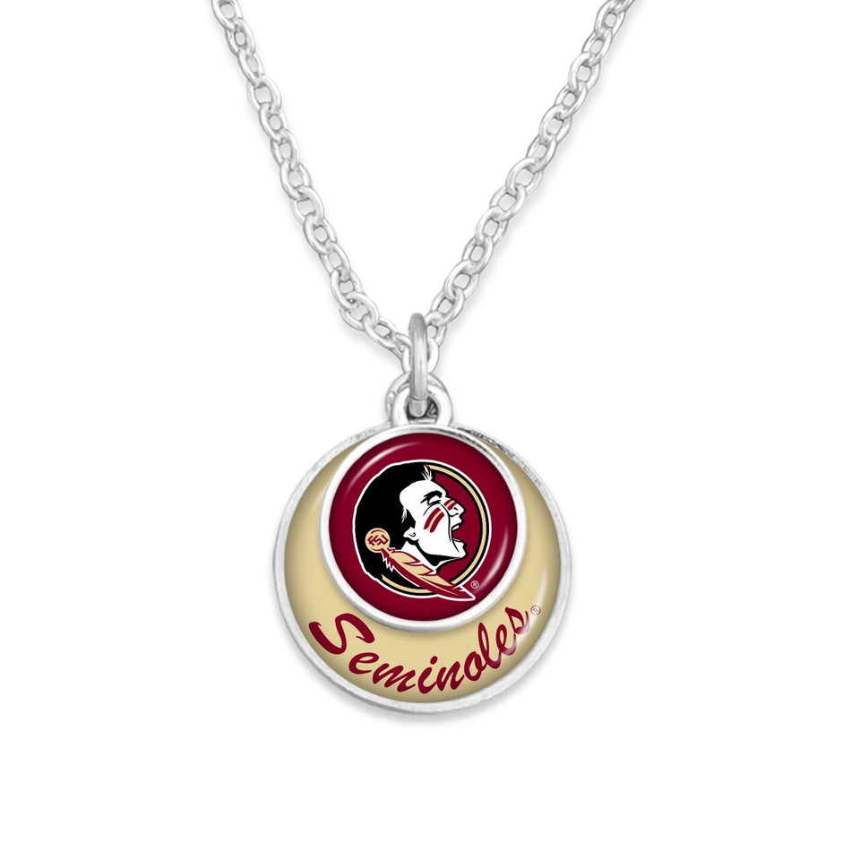 Florida State Seminoles Stacked Disk Necklace
