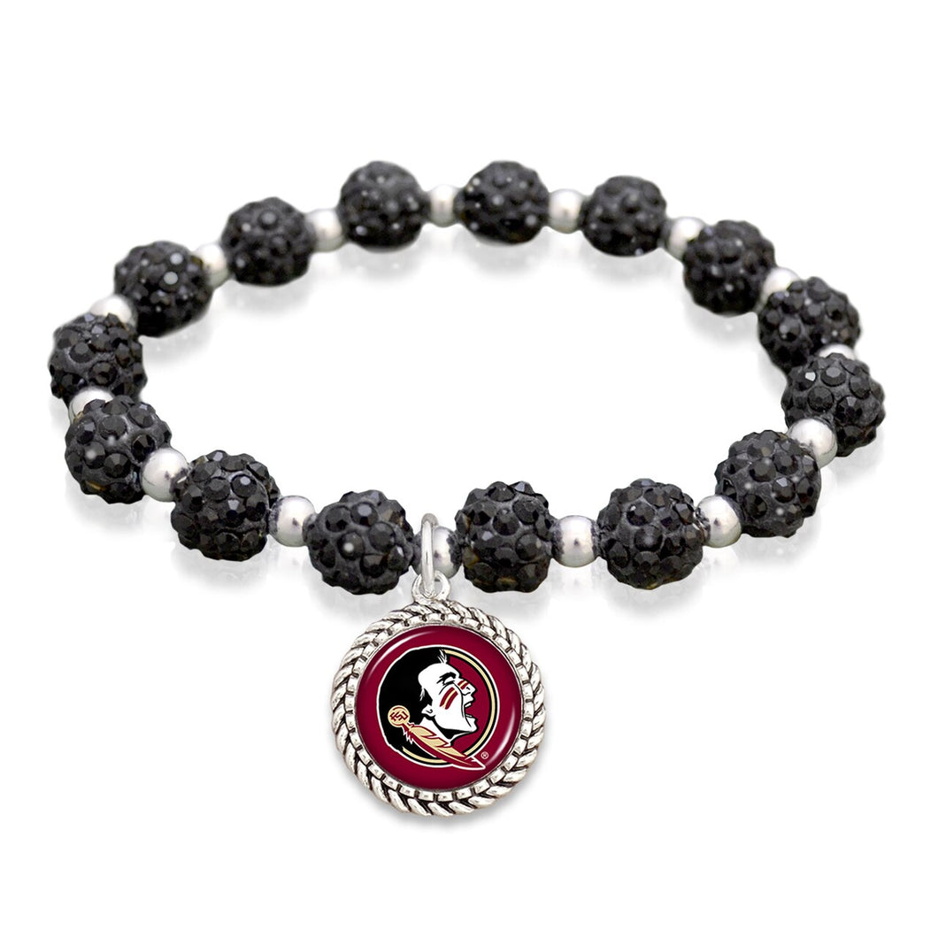 Florida State Seminoles Team Color Sparkle Stretchy Bracelet