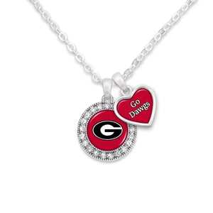 Georgia Bulldogs Spirit Slogan Necklace