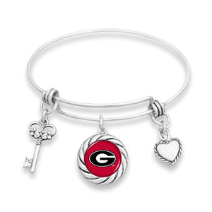 Georgia Bulldogs Twisted Rope Bracelet