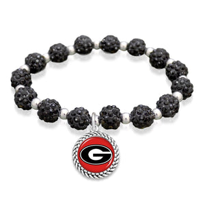Georgia Bulldogs Team Color Sparkle Stretchy Bracelet