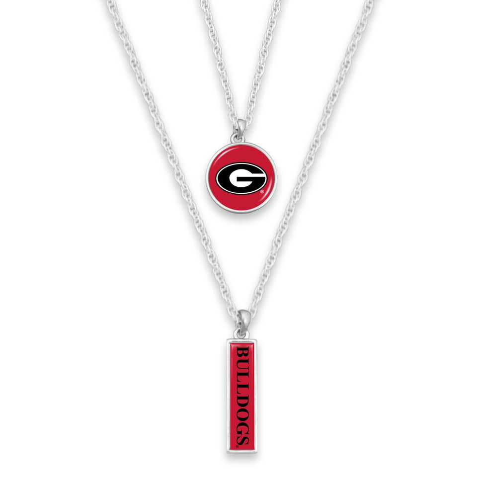 Georgia Bulldogs Double Layer Necklace