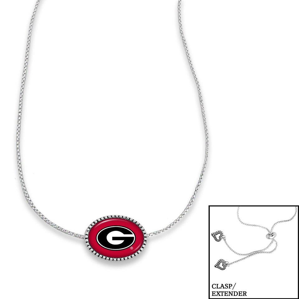 Georgia Bulldogs Adjustable Slider Bead Necklace
