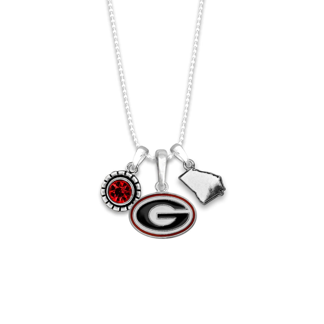 Georgia Bulldogs Home Sweet School Necklace