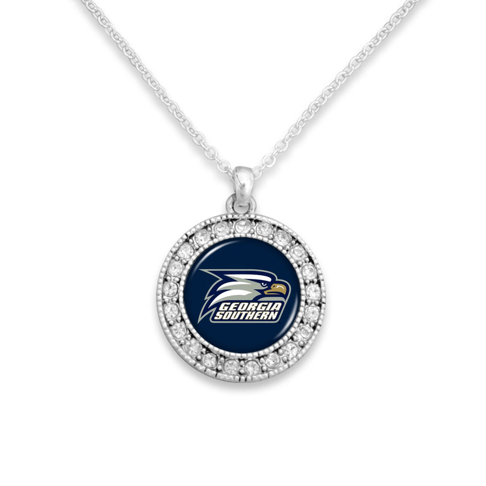 Georgia Southern Eagles Kenzie Round Crystal Charm Necklace