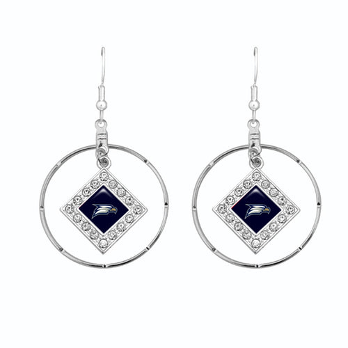Georgia Southern Eagles Silver Hoop Earrings