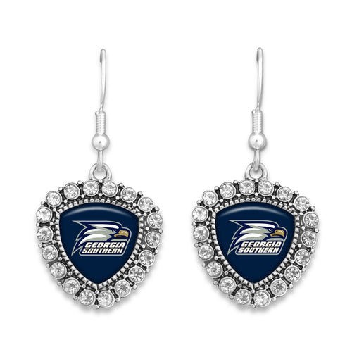 Georgia Southern Eagles Brooke Crystal Earrings