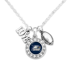 Georgia Southern Eagles Football, Love and Logo Necklace