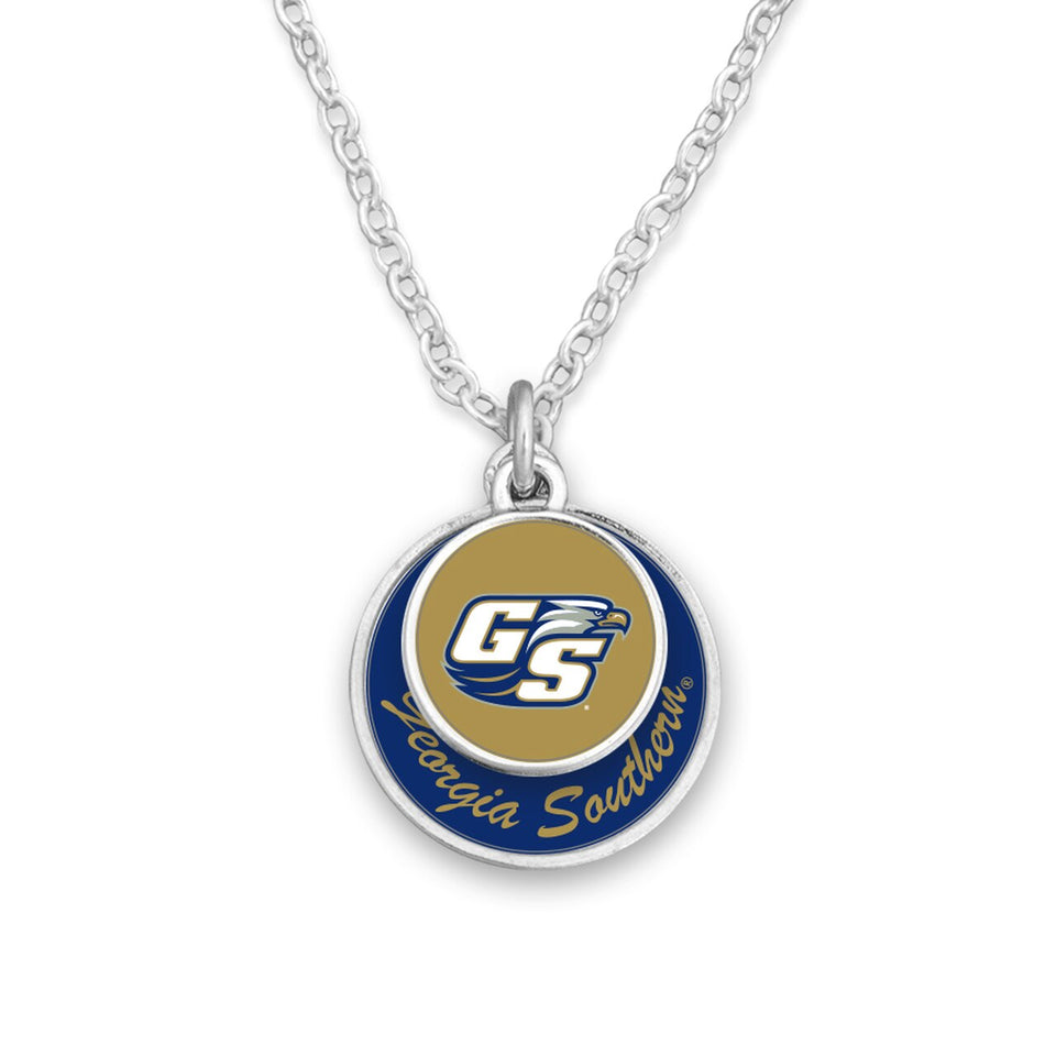 Georgia Southern Eagles Stacked Disk Necklace