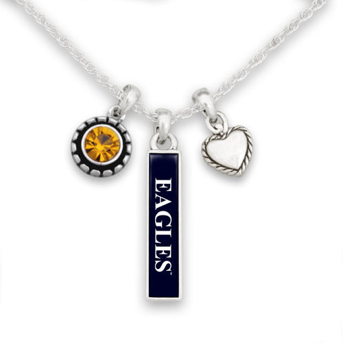 Georgia Southern Eagles Triple Charm Necklace