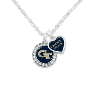 Georgia Tech Yellow Jackets Spirit Slogan Necklace