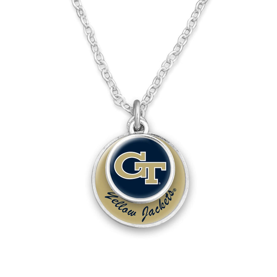 Georgia Tech Yellow Jackets Stacked Disk Necklace
