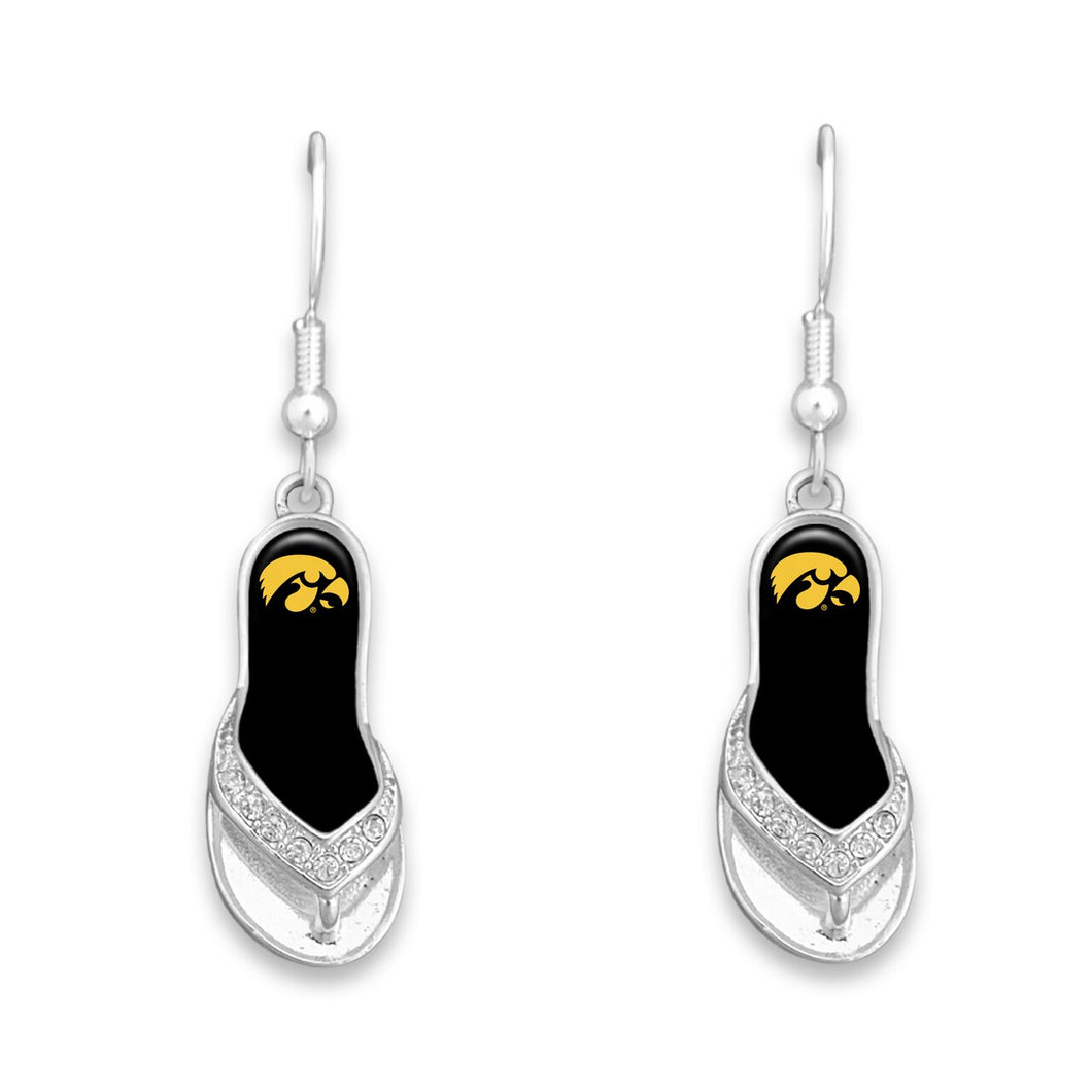 Iowa Hawkeyes Flip Flop Earrings
