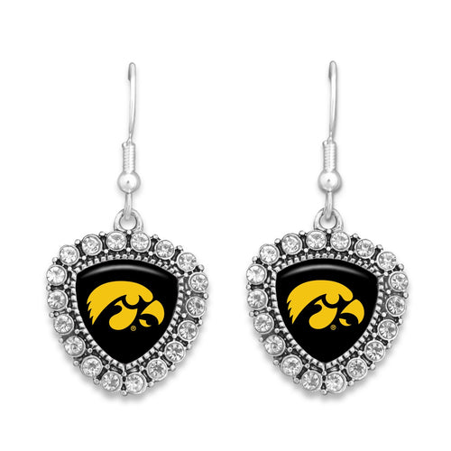 Iowa Hawkeyes Brooke Crystal Earrings