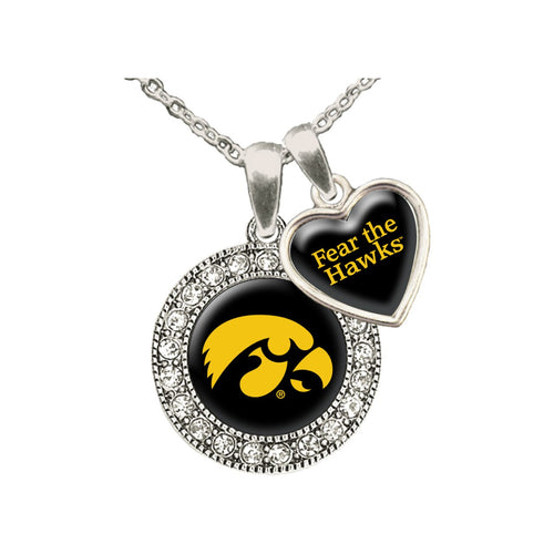 Iowa Hawkeyes Spirit Slogan Necklace
