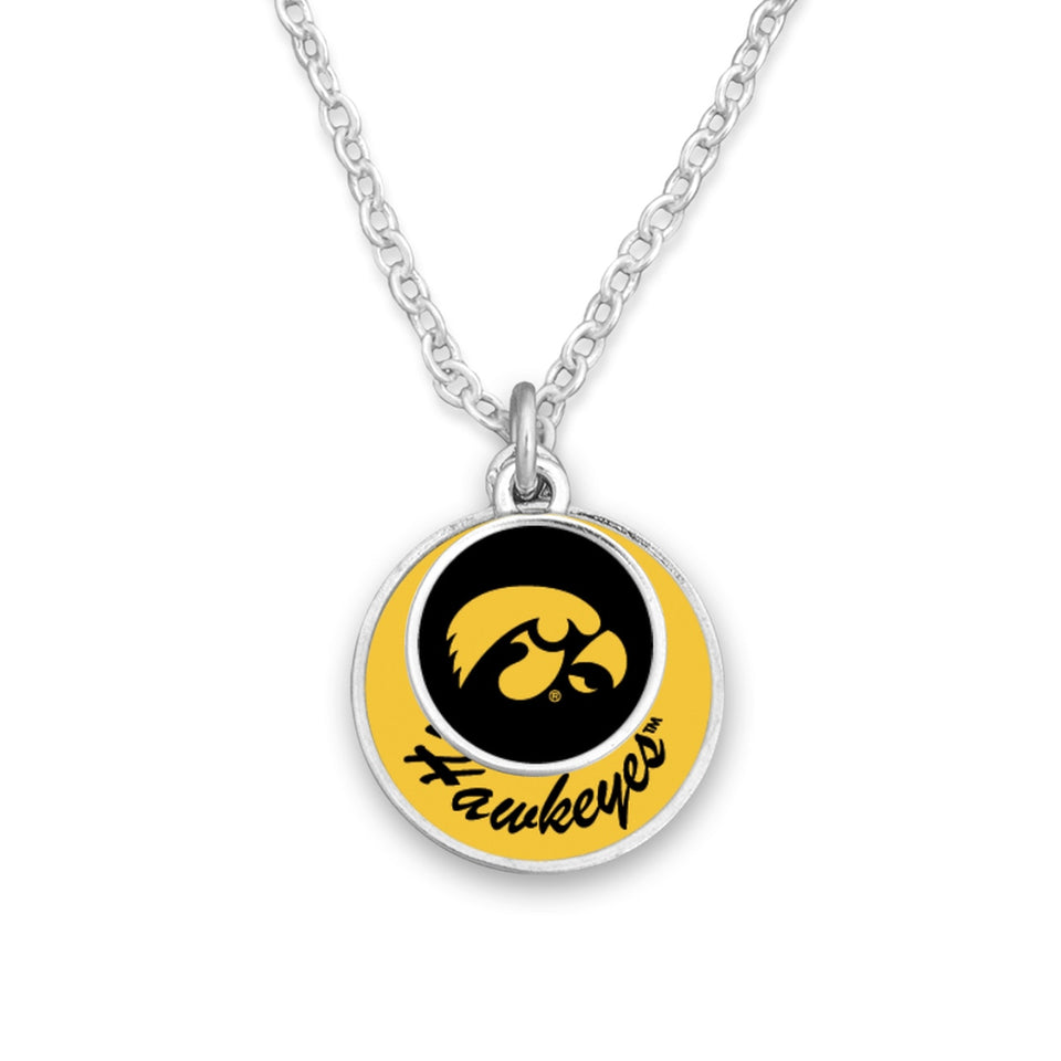 Iowa Hawkeyes Stacked Disk Necklace