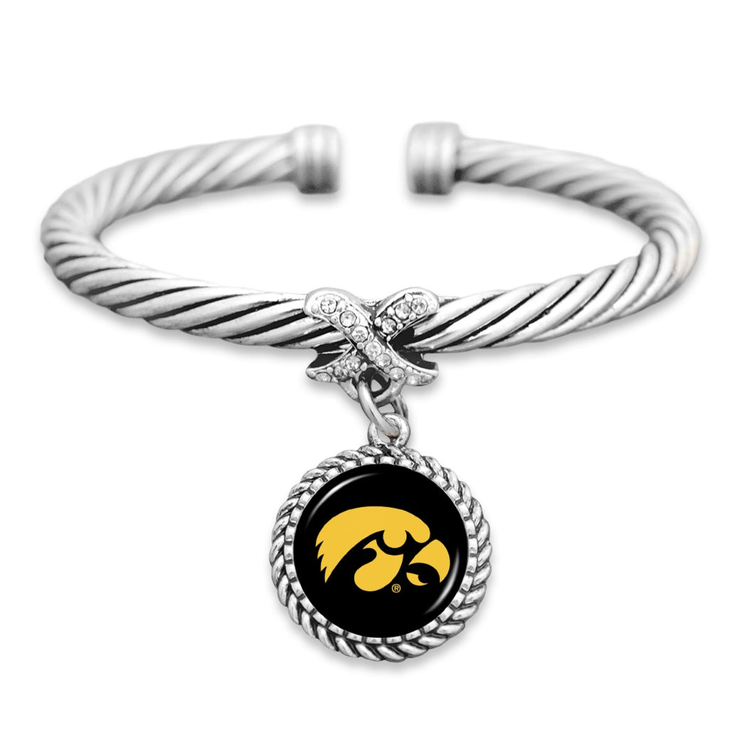 Iowa Hawkeyes Bangle Cuff Bracelet