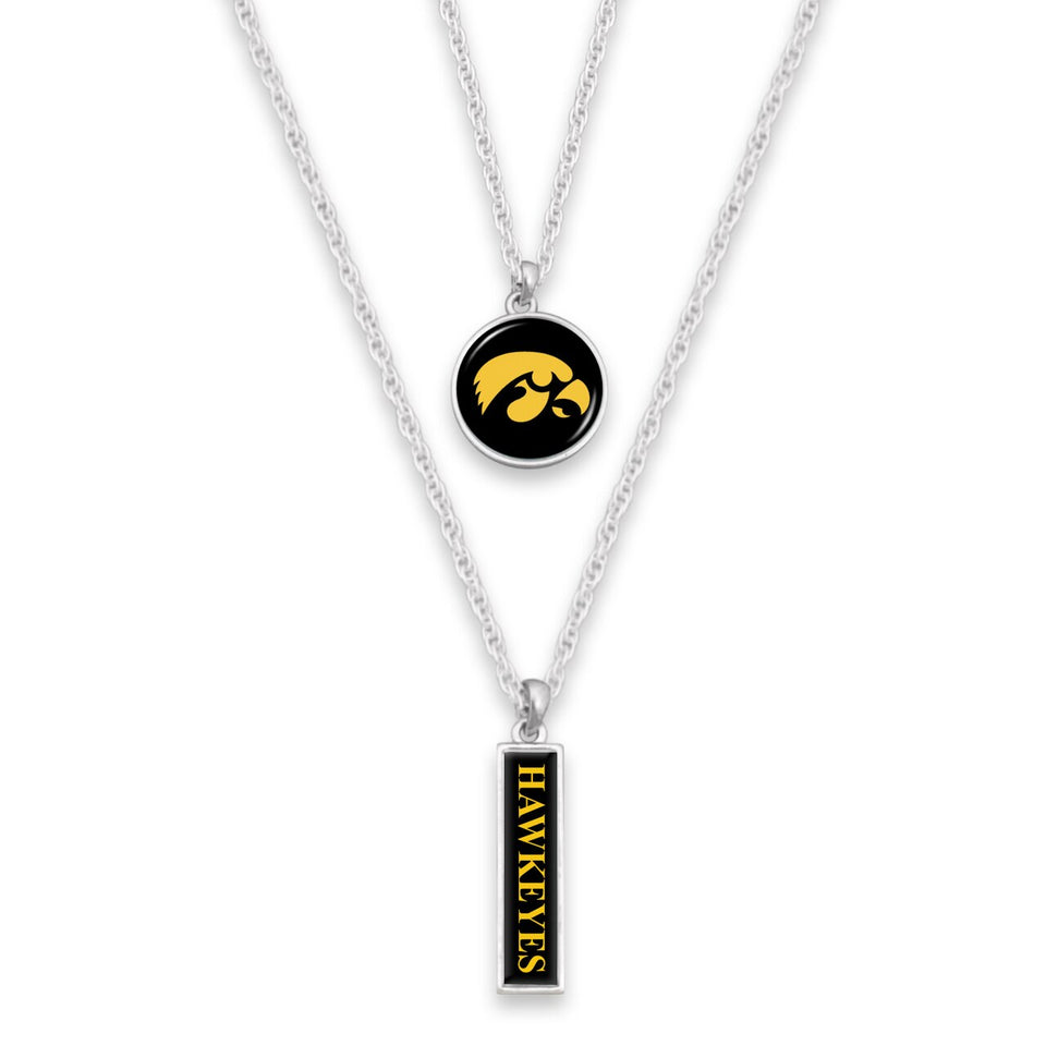 Iowa Hawkeyes Double Layer Necklace