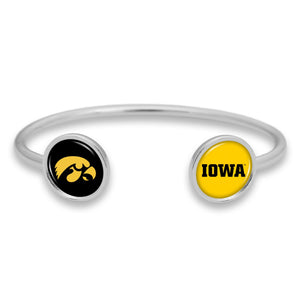 Iowa Hawkeyes Duo Dome Cuff Bracelet