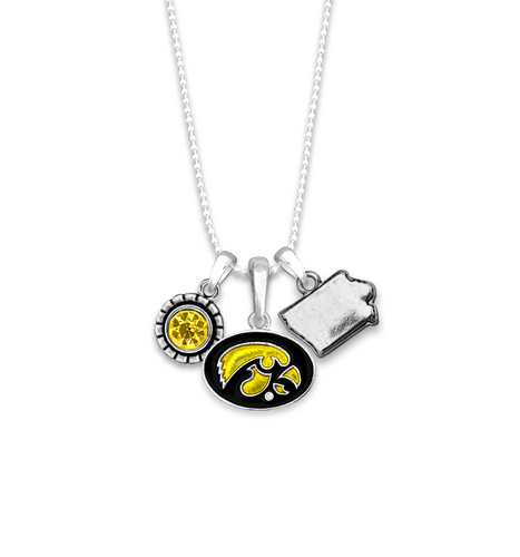 Iowa Hawkeyes Home Sweet School Necklace