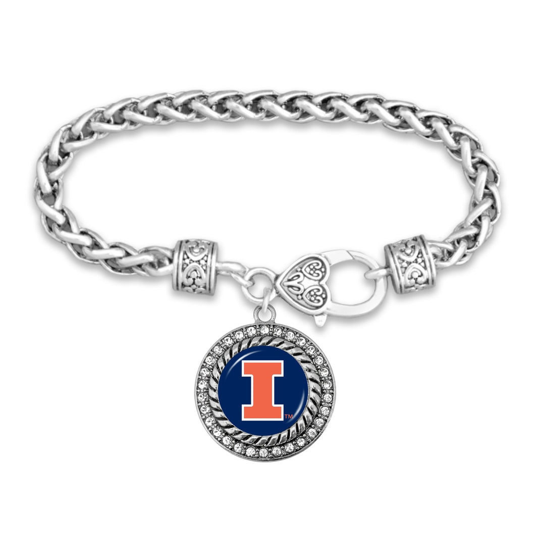 Illinois Illinis Bracelet- Allie