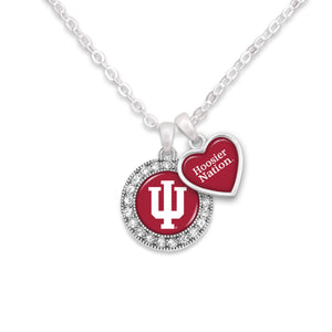 Indiana Hoosiers Spirit Slogan Necklace