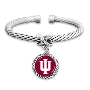 Indiana Hoosiers Bangle Cuff Bracelet