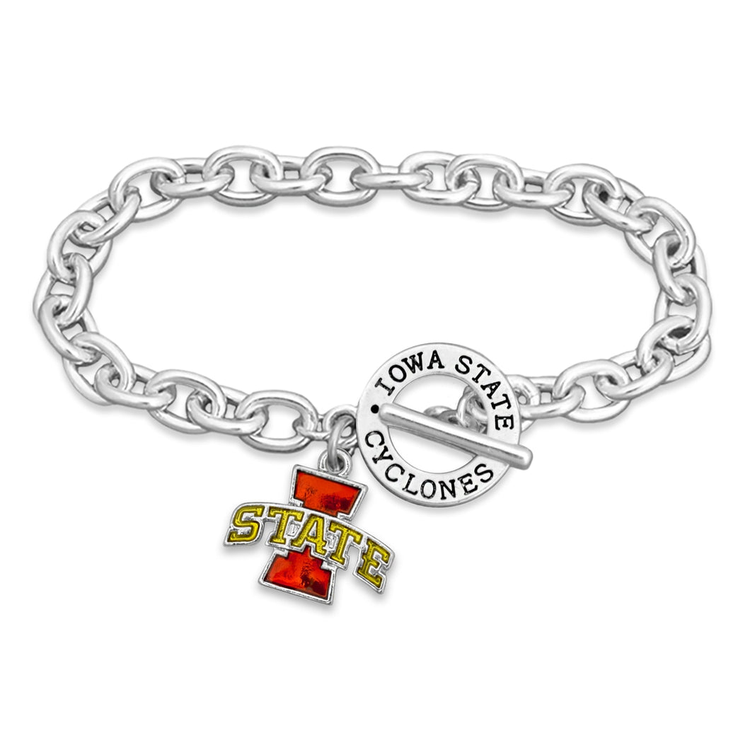 Iowa State Cyclones Bracelet- Audrey Toggle