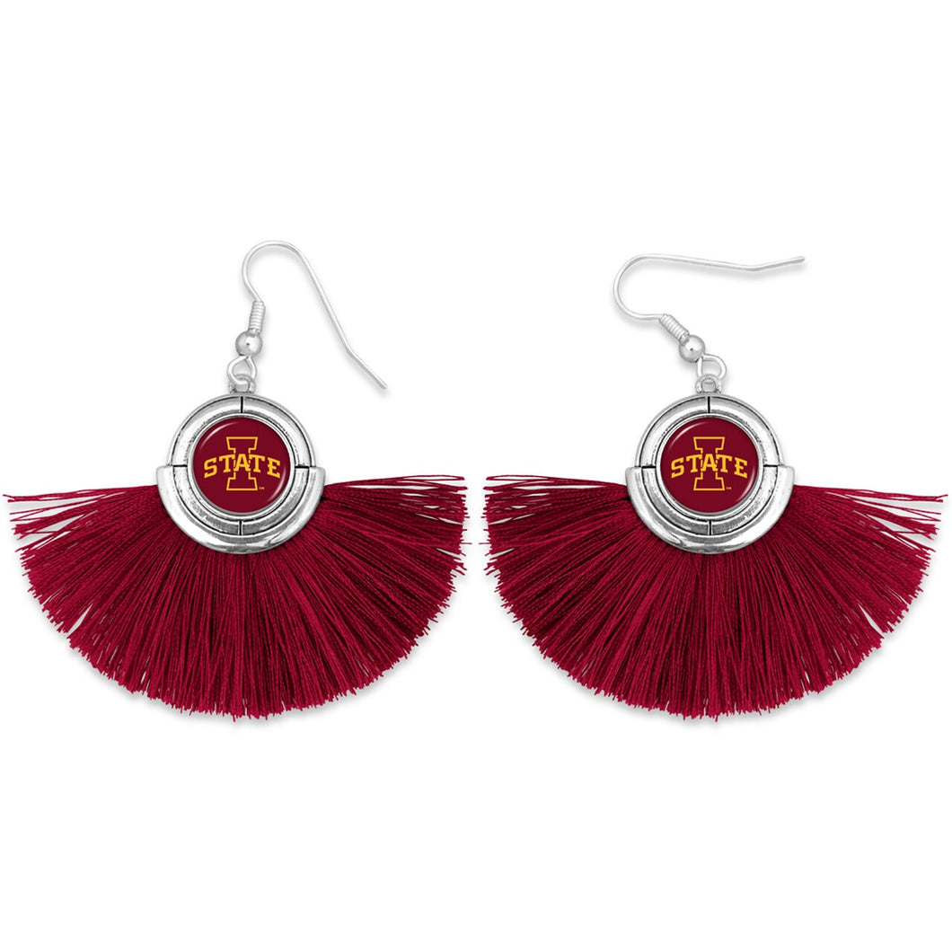Iowa State Cyclones Tassel Earrings