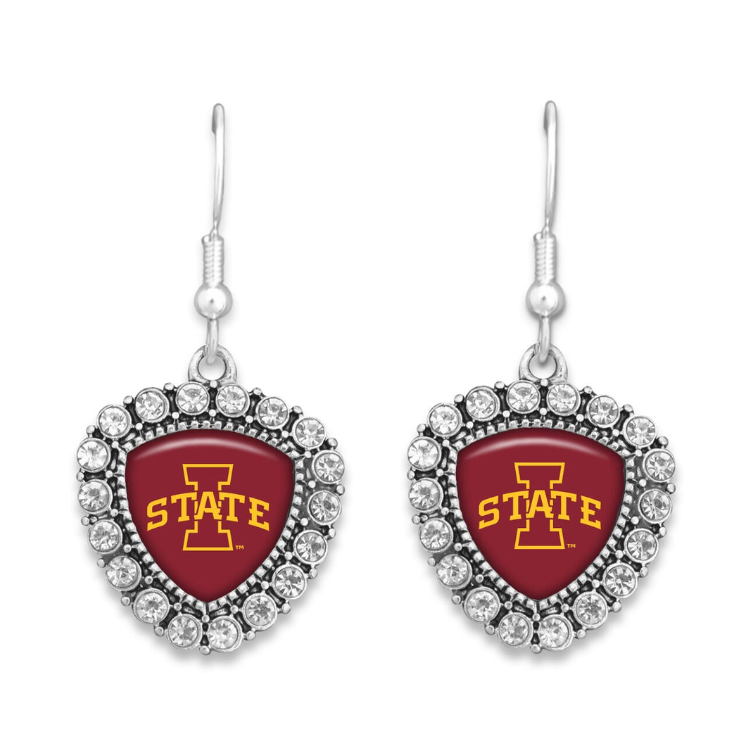 Iowa State Cyclones Brooke Crystal Earrings
