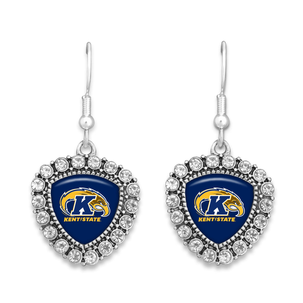 Kent State Golden Flashes Brooke Crystal Earrings